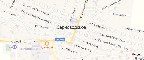 1-й Октябрьский переулок на карте Серноводского села с номерами домов