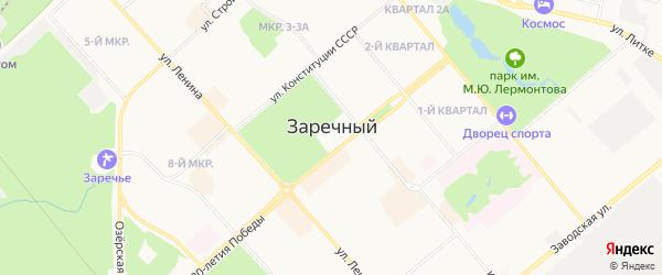 Территория ГК Кристалл на карте Заречного с номерами домов