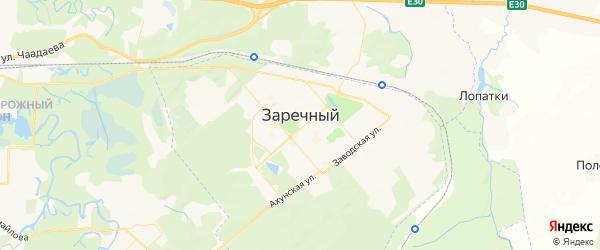 Карта Заречного с районами, улицами и номерами домов