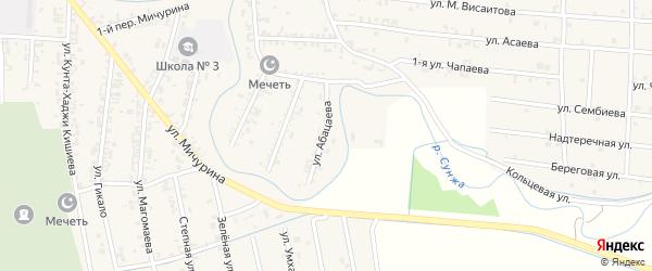 Улица Абацаева на карте Серноводского села с номерами домов