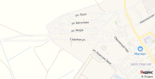 Садовая улица в Ленинске с номерами домов на карте. Спутник и схема онлайн