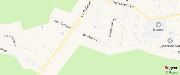 Улица Кирова на карте поселка Шекшема Костромской области с номерами домов