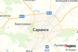Карта г. Саранск Республика Мордовия