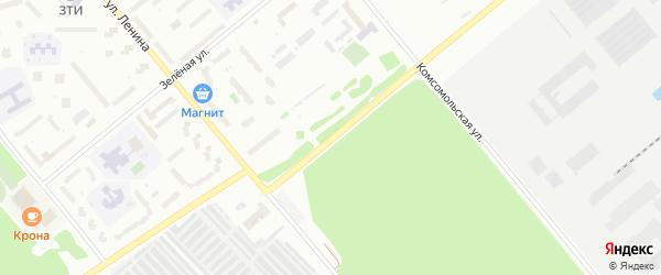 Ахунская улица на карте Заречного с номерами домов