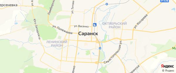 Карта Саранска с районами, улицами и номерами домов