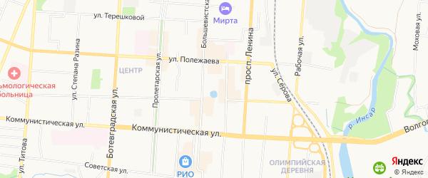 Территория ГК Венец на карте Саранска с номерами домов
