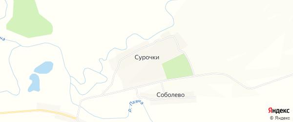 Карта села Сурочек в Нижегородской области с улицами и номерами домов