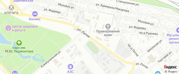 Улица Литке на карте Заречного с номерами домов