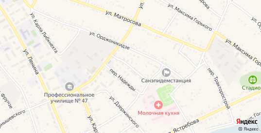 Ахтубинский переулок в Ленинске с номерами домов на карте. Спутник и схема онлайн