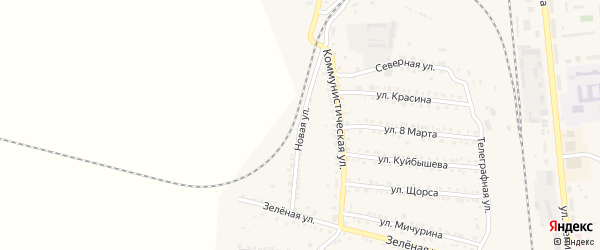 Новая улица на карте Петрова Вала с номерами домов