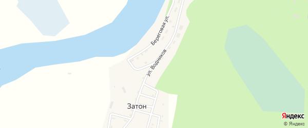 Улица Водников на карте поселка Затона Нижегородской области с номерами домов