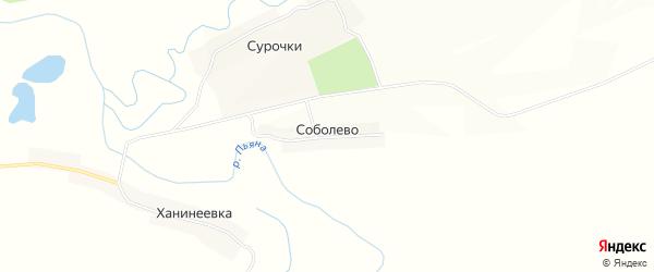 Карта села Соболево в Нижегородской области с улицами и номерами домов
