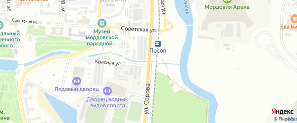 Улица Серова на карте Саранска с номерами домов