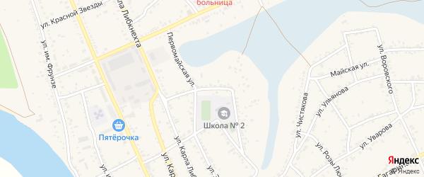 Первомайская улица на карте Ленинска с номерами домов