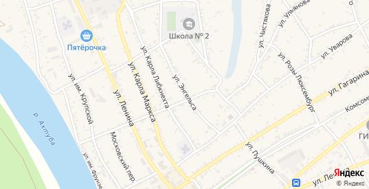 Улица Ф.Энгельса в Ленинске с номерами домов на карте. Спутник и схема онлайн