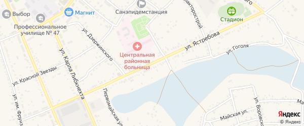 Улица им.Ястребова на карте Ленинска с номерами домов