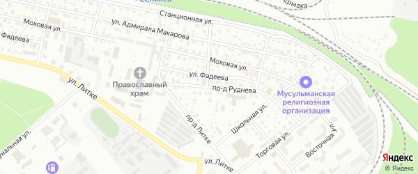 Улица Руднева на карте Заречного с номерами домов