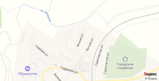 Речная улица в Петровом Вале с номерами домов на карте. Спутник и схема онлайн