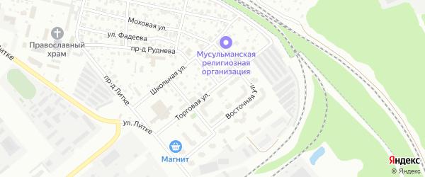 Торговая улица на карте Заречного с номерами домов