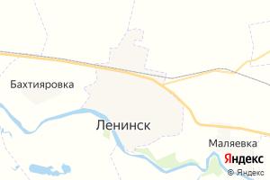 Карта г. Ленинск