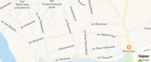 Улица им. Вологина на карте Ленинска с номерами домов