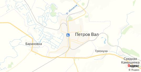 Карта Петрова Вала с улицами и домами подробная. Показать со спутника номера домов онлайн