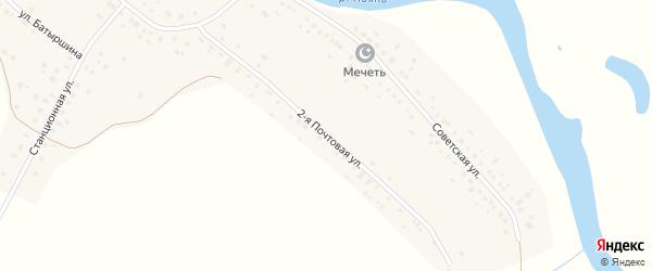 Улица Почтовая-2 на карте села Камкино Нижегородской области с номерами домов