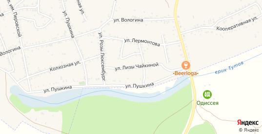 Улица Лизы Чайкиной в Ленинске с номерами домов на карте. Спутник и схема онлайн