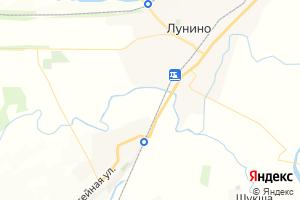 Карта пгт Лунино Пензенская область