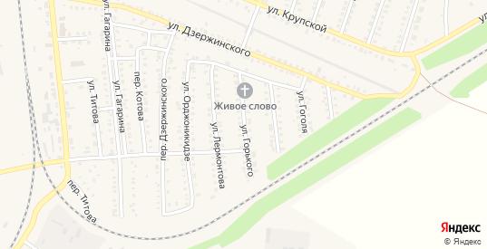 Улица Горького в Петровом Вале с номерами домов на карте. Спутник и схема онлайн