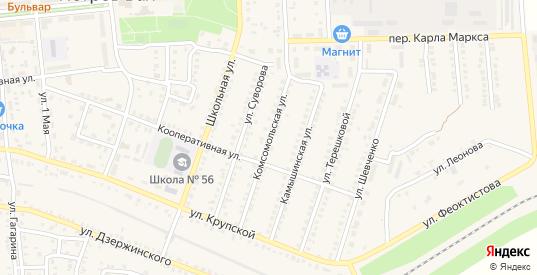 Комсомольская улица в Петровом Вале с номерами домов на карте. Спутник и схема онлайн