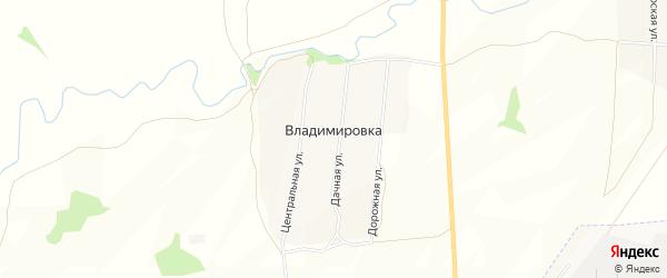 Карта села Владимировки в Мордовии с улицами и номерами домов