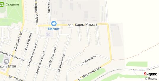 Переулок Шевченко в Петровом Вале с номерами домов на карте. Спутник и схема онлайн