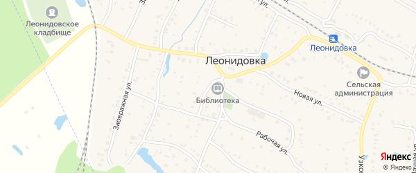 Школьная улица на карте железнодорожной станции Леонидовки Пензенской области с номерами домов