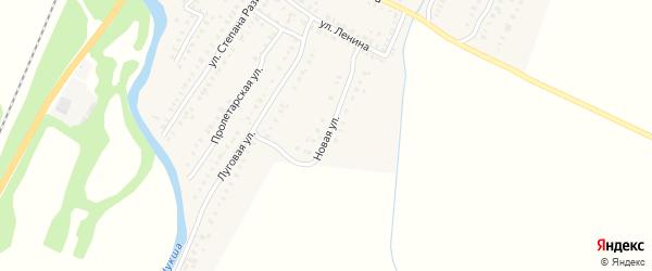 Новая улица на карте поселка Лунино Пензенской области с номерами домов