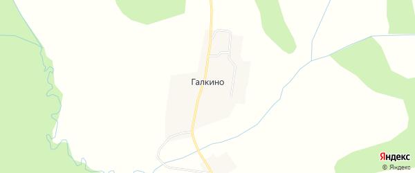 Карта деревни Галкино в Нижегородской области с улицами и номерами домов