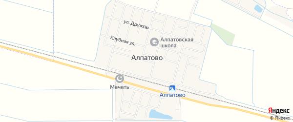 Карта села Алпатово в Чечне с улицами и номерами домов