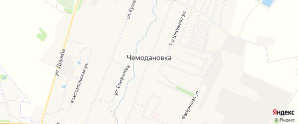 Карта села Чемодановки в Пензенской области с улицами и номерами домов