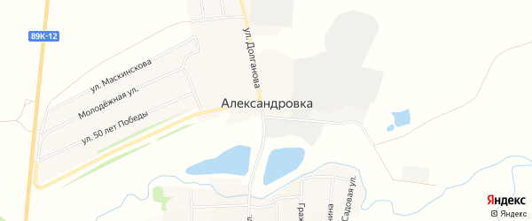 Карта села Александровки в Мордовии с улицами и номерами домов