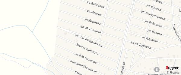 Датская улица на карте села Самашки с номерами домов