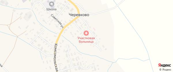 Больничный переулок на карте села Черевково с номерами домов