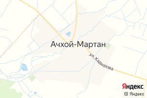 Карта с. Ачхой-Мартан Чеченская Республика