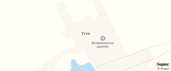 Лесная улица на карте села Утки Нижегородской области с номерами домов