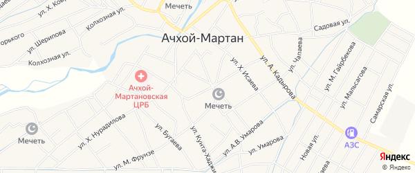 Карта села Ачхой-мартана в Чечне с улицами и номерами домов