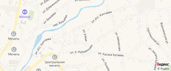 9 Мая улица на карте села Ачхой-мартана с номерами домов