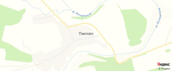 Карта деревни Павлово (сараевского с/п) в Вологодской области с улицами и номерами домов