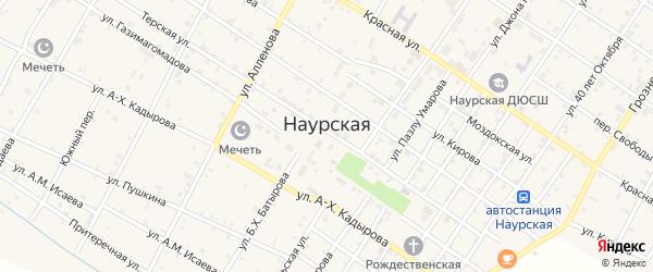 Крайняя улица на карте Наурская станицы Чечни с номерами домов