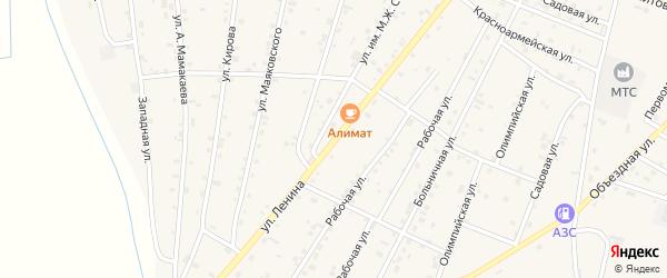 Улица А.Шерипова на карте Надтеречного села с номерами домов