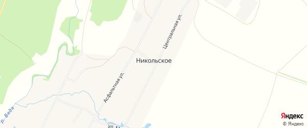 Карта деревни Никольского в Пензенской области с улицами и номерами домов