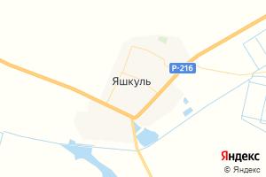 Карта пос. Яшкуль Республика Калмыкия